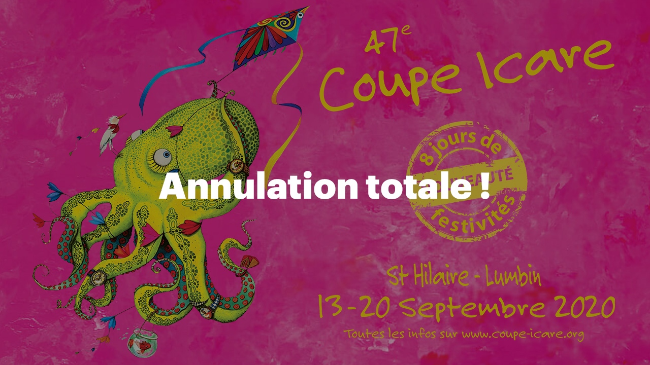 Coupe Icare 2020 Annulée totalement