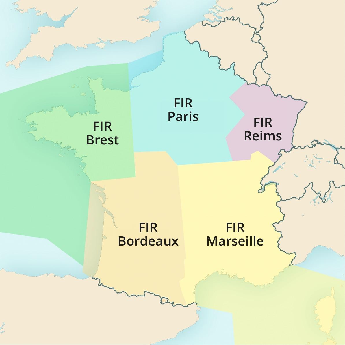 FIR France (Flight Information Region)